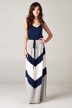 Chevron Audrey Dress on Emma Stine Limited