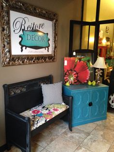 Bench made from a headboard & footboard