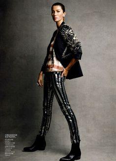 Gisele Bundchen for Vogue China February 2011 by Patrick Demarchelier