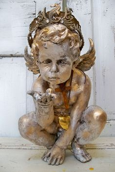 Cherub statue nautical angel sculpture sea by AnitaSperoDesign, $270.00