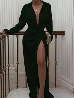 Black Dress With Sleeves, Dresses With Sleeves, Hot Black Dress, Black Long Sleeve Dress, Long Black Dresses, Classy Black Dress, Sexy Long Dress, Sleeve Dresses, White Dress