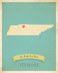 Love this Tennessee print, with stickers to place on Memphis. Pretty color choices