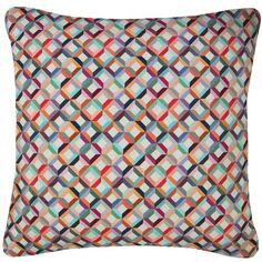 Nitin Goyal London - Small Chevron Printed Silk Cushion Blush Square (120 AUD) ❤ liked on Polyvore featuring home, home decor, throw pillows, handmade home decor, silk throw pillows, silk accent pillows, inspirational home decor and textured throw pillows