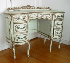 French Antique Vanity / Desk early 1900s