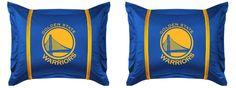 Set of 2 NBA Basketball Golden State Warriors Standard Pillow Shams / Covers