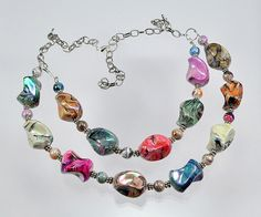 Twisted Swirl  Colorful  Acrylic  Pinch Beads  Silver by bebsbeads, $18.50