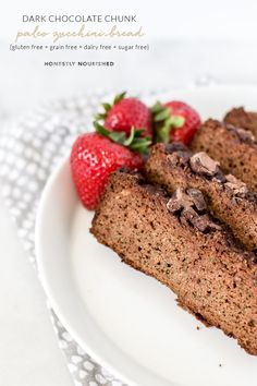 Equally satisfying as a healthy breakfast or indulgent dessert, this simple zucchini bread is crazy moist and feels rich and decadent while being totally healthy and nutritious. Sweetened with bananas and a spoonful of maple syrup, it's sugar free, grain-free, gluten-free, dairy-free and will please every palate!   via Honestly Nourished