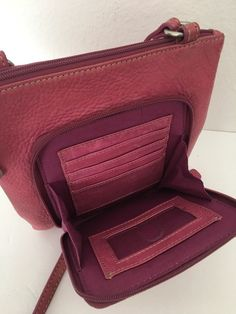 Fossil Genuine Leather Organizer Bag Pink Designer Fashion Hip Chic Wallet #Fossil #Clutch