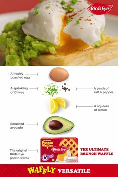 Here's our suggestion for the ultimate brunch waffle - what's yours? For the full Potato Waffle with avocado & poached egg recipe, along with other waffly versatile creations, visit: https://www.birdseye.co.uk/recipes?s=waffles