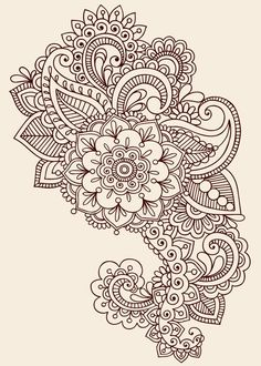 Illustration about Hand-Drawn Henna Mehndi Tattoo Flower Mandala Medallion Doodle Design with Border- Vector Illustration Design Elements. Illustration of embellishment, medallion, intricate - 14265867 Mehndi Tattoo, Henna Mehndi, Henna Tattoo Muster, Muster Tattoos, Henna Tattoos, New Tattoos, Sleeve Tattoos, Mehendi, Sternum Tattoo