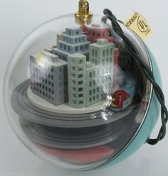 Hallmark Keepsake Ornament Light and Motion Metro Express by Linda Sickman 1989