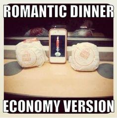 Cena romántica de crisis