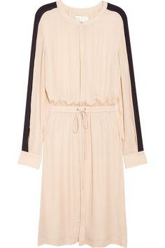 Landry drawstring silk-georgette dress NET-A-PORTER.COM