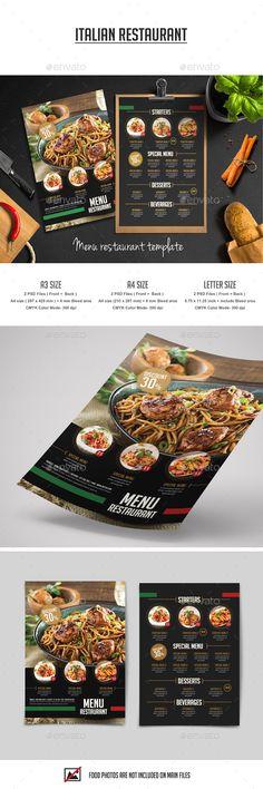 Food Menu Restaurant Flyer   Menu Restaurant And Food Menu