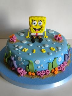 Torta Bob Esponja by Pastelera Bakery Shop, via Flickr
