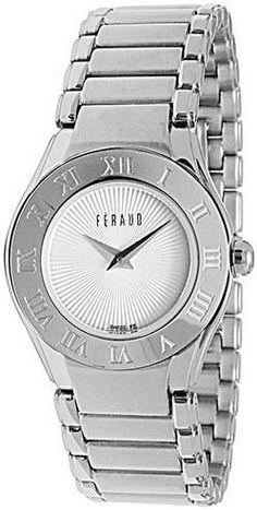 reloj feraud dama acero suizo nuevos original garantia