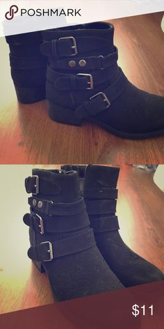 Size 9 Booties Slightly worn size 9 black booties White Mountain Shoes Ankle Boots & Booties