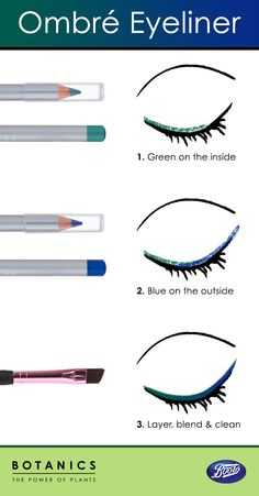 Follow this how-to for a fun ombre eye makeup.