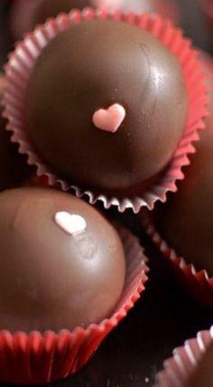 Dark Chocolate-Strawberry Cake Balls