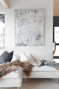 Be Still and Know Wall Decor Contemporary Wall Art Farmhouse – art, abstract art… Home Living Room, Living Room Decor, Living Spaces, Modern White Living Room, Living Room Artwork, White Couch Living Room, Condo Living, Modern Bedroom, Apartment Living