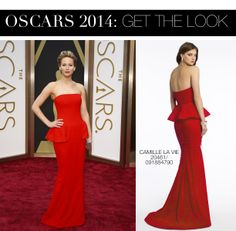 Jennifer Lawrence Oscar 2014 Dress vs Camille La Vie Peplum Tiered Prom Dress