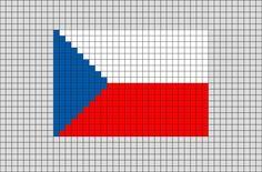 Flag of Czech Republic Pixel Art from BrikBook.com #CzechRepublic #FlagofCzechRepublic #Czechia #Prague #Czech #pixel #pixelart #8bit Shop more designs at http://www.brikbook.com
