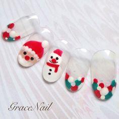 Xmas Nail Art, Cute Christmas Nails, Xmas Nails, Christmas Nail Art Designs, Holiday Nails, Christmas Design, Sun Nails, Daisy Nails, Manicure And Pedicure
