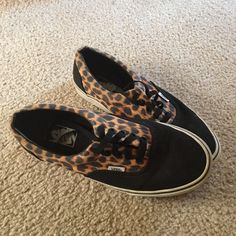 Vans cheetah print shoes size 8 mens 9.5 women's Used but mint condition cheetah print vans. Originally purchased for $89 online probably 3 years ago & have been worn maybe 5 times.   BUNDLE AND GET 20% OFF YOUR ORDER - PRICES ARE NEGOTIABLE DEPENDING ON THE ITEM. COMMENT AND WE CAN WORK SOMETHING OUT.   CHECK OUT MY eBay STORE TO FIND MANY MORE GOOD DEALS!!  http://stores.ebay.com/Southern-Boutique-Clothing Vans Shoes