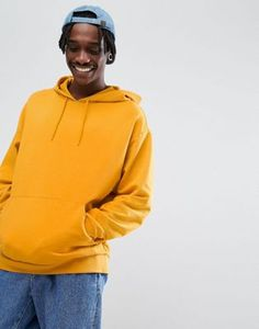 ASOS Oversized Hoodie in Yellow - Size small