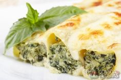 Receita de Canelone de espinafre com ricota em receitas de massas, veja essa e outras receitas aqui!