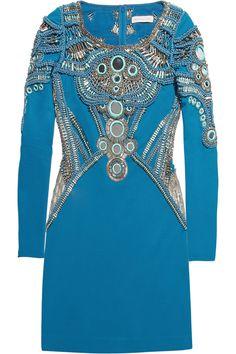 Matthew Williamson|Embellished stretch-jersey mini dress|NET-A-PORTER.COM