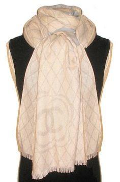 2013c Chanel Camellia Cashmere Silk Scarf  Shawl Wrap