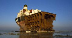 Life is a beach - well it is for these beached ship wrecks.... - http://www.thevintagenews.com/2015/03/19/life-is-a-beach-well-it-is-for-these-beached-ship-wrecks/