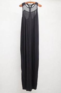 T back maxi dress / Raquel Allegra