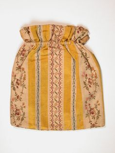 Work bag National Trust Inventory Number 1355185 Date 1700 - 1800 Materials: Brocade, Chintz, Wood Collection Killerton, Devon (Accredited Museum) Not on show