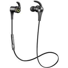 SoundPEATS Bluetooth Headphones In Ear Wireless Earbuds 4.1 Magnetic Sweatproof Stereo Bluetooth Earphones for Sports With Mic (Upgraded 7 Hours Play Time, Secure Fit, Noise Cancelling) - Black *** You can get additional details at the image link. (This is an affiliate link) #CellPhonesAccessories