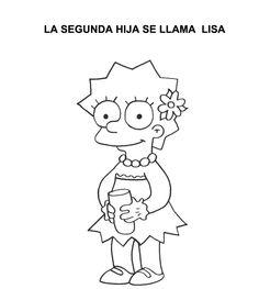 Maggie Los simpson Dibujos para colorear  The Simpsons