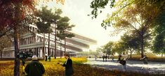 Winning Design for Seoul's National Assembly Smart Work Center and Press Center Unveiled,Courtesy of HAEAHN Architecture and H Architecture