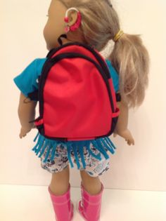 Trendy Dolls - Red Backpack for 18 inch American Girl Dolls, $4.99 (http://www.mytrendydoll.com/accessories/red-backpack-for-18-inch-american-girl-dolls/)