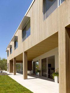 vertical wooden boards