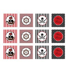 Free Printable Pirate Decorations   pirate printable cupcake toppers you ll receive the pirate printable ...