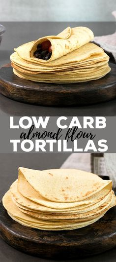 These low carb tortillas are made with a blend of almond flour and coconut flour, and the dough is amazingly easy to handle. With less than 2 net carbs per tortilla, they are going to be your new favorite gluten free tortilla! #almondflour #tortillas #lowcarb #grainfree #dairyfree #glutenfree