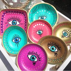 Gorgeous handmade/ hand painted clay eye dishes. Perfect for displaying your jewellery. Limited stock available on our website at www.bluematitrend.com ✨✨✨✨✨✨✨✨✨✨✨✨