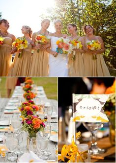 Dresses would look lovely beside gentlemen with gay suits!   Washington Wedding by Kevin Wrenn Photography | Style Me Pretty