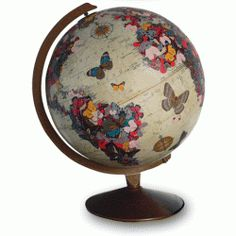 Have a bit of wanderlust? These re-imagined vintage globes can sooth it away.