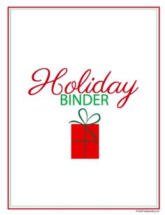 Check out our FREE Printable Holiday Binder. This includes a meal planner, gift planner, Christmas card exchange list, and more!
