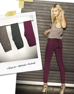 Colored denim from Paige. The Burgundy is rad.