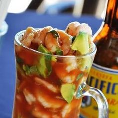 Mexican Shrimp Cocktail I followed the recipe exactly except I added tajin it was great!