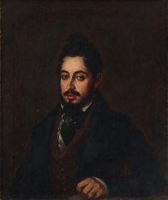 #AJ_ #Docente2.0 Retrato del escritor romántico Mariano José de Larra, realizado por José Gutiérrez de la Vega, de 1835, obra realizada en óleo sobre lienzo.