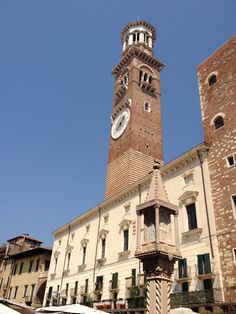 Torre dei Lamberti - Verona - A twelfth century tower that is still the tallest building in Verona